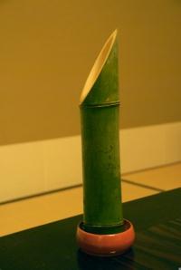 Sake served in Bamboo